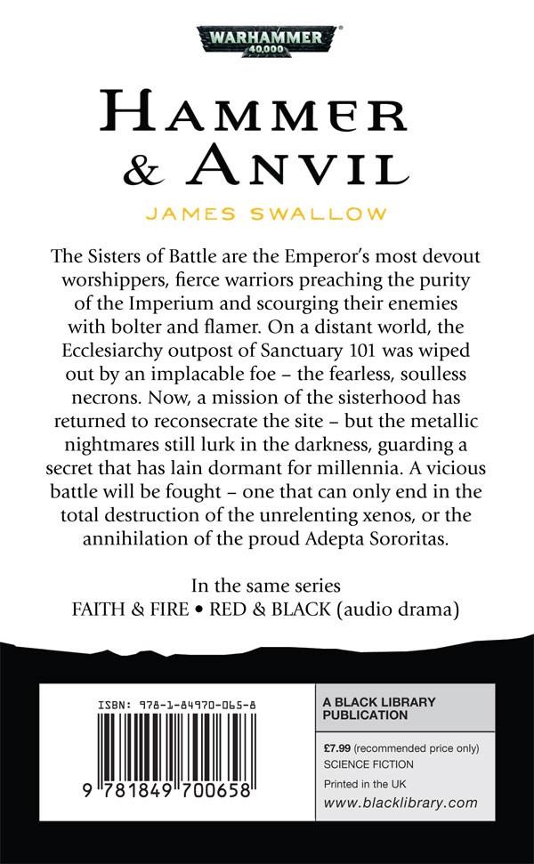 Faith and Fire / Hammer & Anvil de James Swallow 986932hammeranvilback