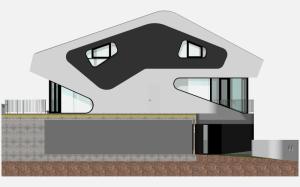 """Challenge thème : """"modélisation et rendu d'une maison atypique"""" - Silk37 & SB - ArchiCAD 17 - 3DS/V-Ray - Photoshop Mini_216162OLSHouseFaceEstvue1"""