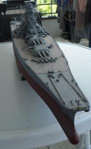 Cuirassé Yamato Tamiya 1/350 Mini_240206SAM0540
