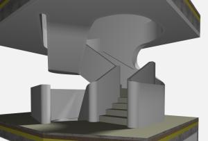 """Challenge thème : """"modélisation et rendu d'une maison atypique"""" - Silk37 & SB - ArchiCAD 17 - 3DS/V-Ray - Photoshop Mini_275522OLSHouseEscalierVue41"""