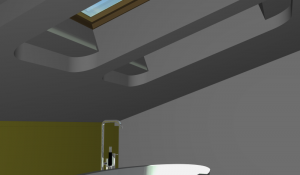 """Challenge thème : """"modélisation et rendu d'une maison atypique"""" - Silk37 & SB - ArchiCAD 17 - 3DS/V-Ray - Photoshop Mini_566258OLSHouseSalledeBainevue3"""