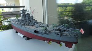 Cuirassé Yamato Tamiya 1/350 Mini_971130SAM0533