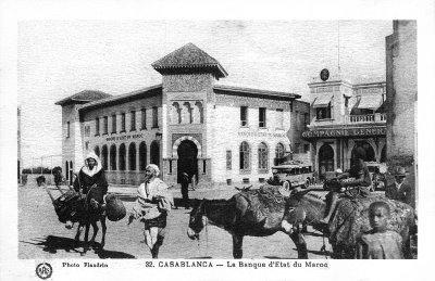 تاريخ المغرب من خلال الصورة 349769La_banque_d__etat_du_Maroc_a_Casablanca