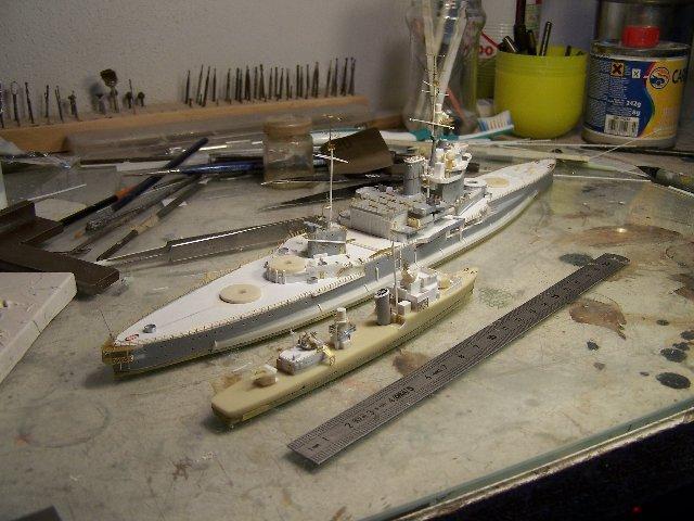 Hms Warspite airfix 1/600 - Page 3 654044hmswarspite092