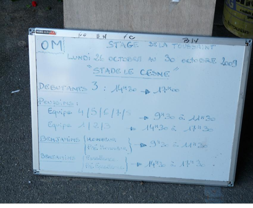 "L""OLYMPIQUE DE MARSEILLE SORT ENFIN DE SA RESERVE!!!! 805497P1010636"
