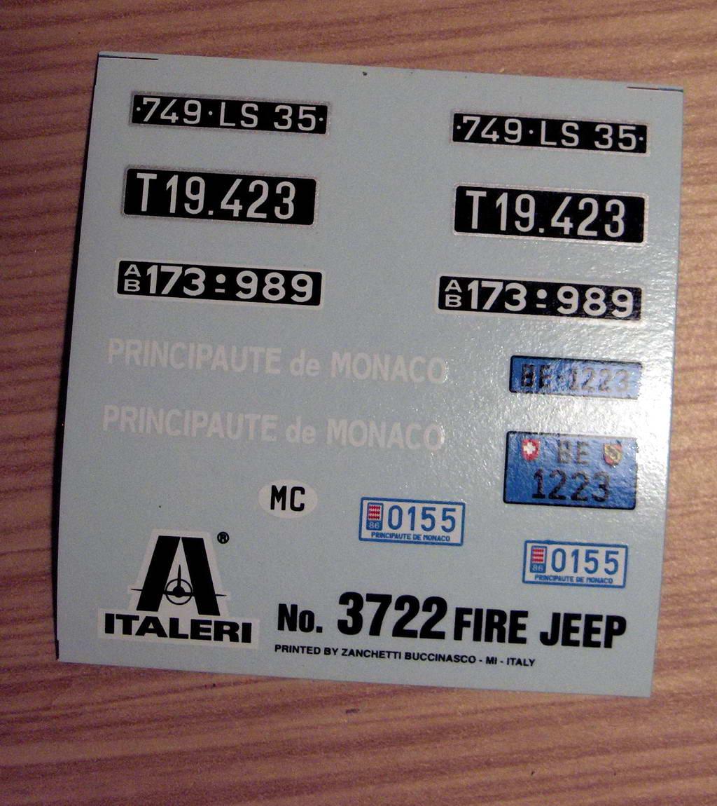 Fire Jeep 1/24 Italeri 957406HPIM0724