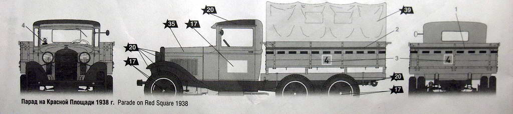 Camion militaire Russe GAZ-AAA  (3-Axel)WWII  Zvezda 1/35 162062HPIM1079