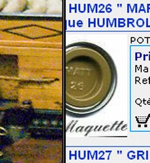"""La Belle Poule """"Heller""""1/200 168256Marron_kaki_mat"""
