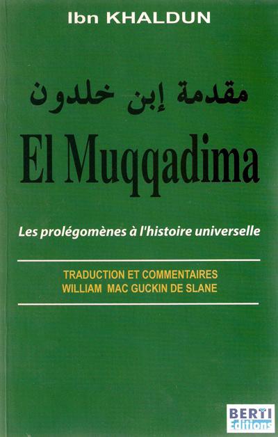 La Muqaddima.. d'IBN KHALDOUN 333572400