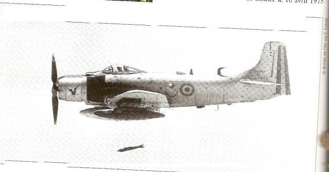 DOUGLAS A-1 SKYRAIDER 367677Skyraider_tchadien_operation_Tacaud_1978