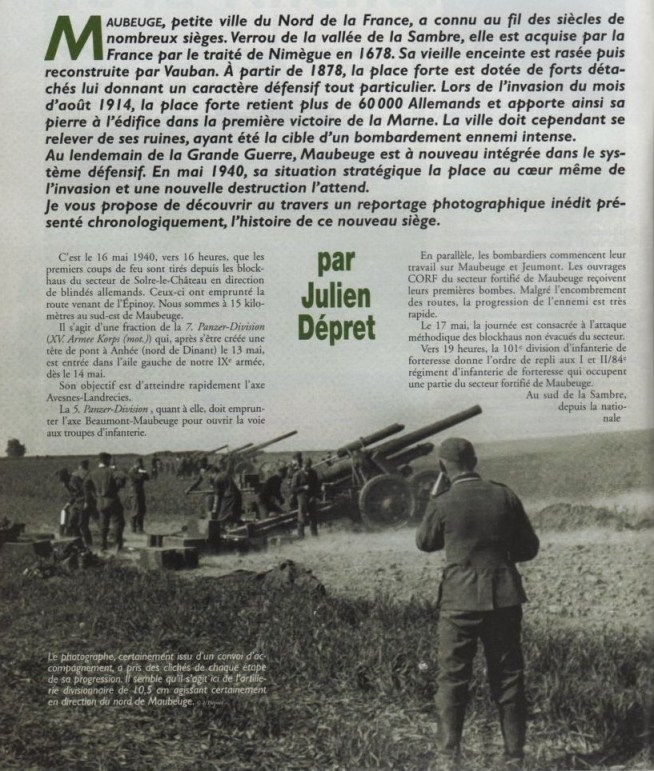 Le second siège de Maubeuge en Mai 1940 373281