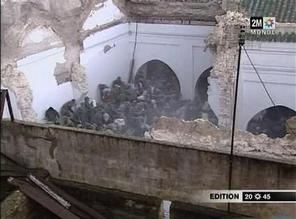 أزيد من 100 قتيل وجريح في انهيار مسجد بمكناس 473691meknesmos1