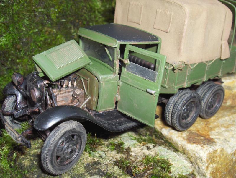 Camion Russe  GAZ-AAA 1934/1943 Zvezda 1/35 terminé!!! 483707HPIM1644