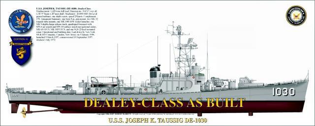 USN DESTROYERS D'ESCORTE CLASSE DEALEY 517590Dealey_class_2