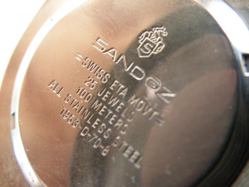 Présentation d une petite Sandoz diver's 100M (petite mamie) 556273P7210165