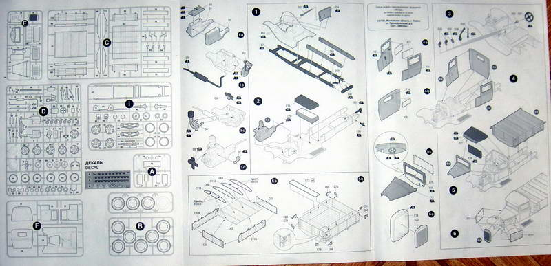 Camion militaire Russe GAZ-AAA  (3-Axel)WWII  Zvezda 1/35 580390Plan.1