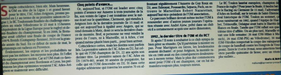 """LA CAVERNE DES TROPHEES DE L""""OM - Page 2 688749P1080401"""