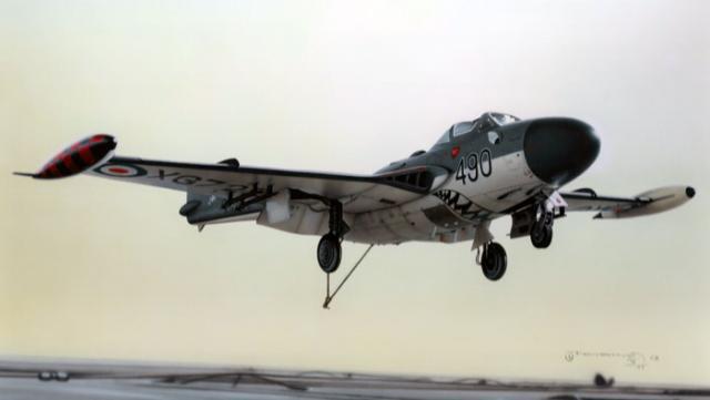 ROYAL NAVY PORTE-AVIONS CLASSE AUDACIOUS 730058De_Havilland_Sea_Venom