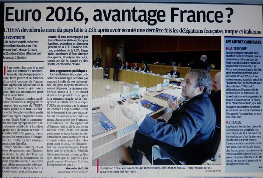 EURO 2016 EN FRANCE CA SE RAPPROCHE  823896P1090024