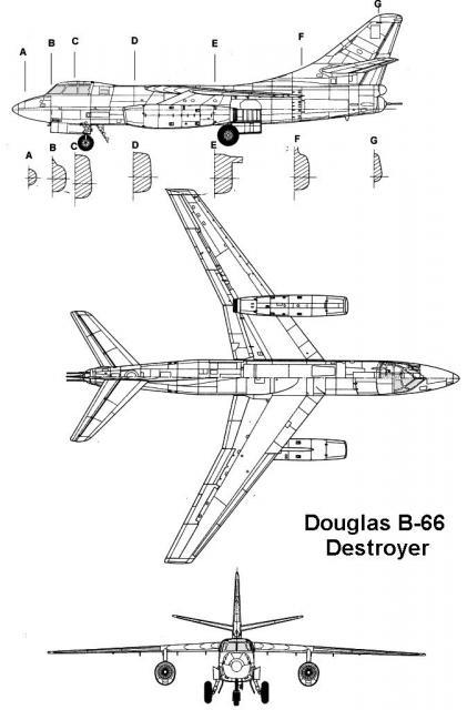 DOUGLAS A-3 SKYWARRIOR 854881B_66_profil