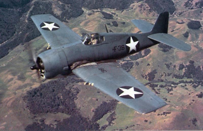 GRUMMAN F6F HELLCAT 889576F6F_3_over_California_1943_VF5