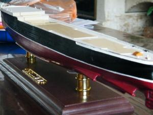 RMS Lusitania (Deluxe Model) - 1:350 - Gunze Sangyo Mini_395121DSCF0855