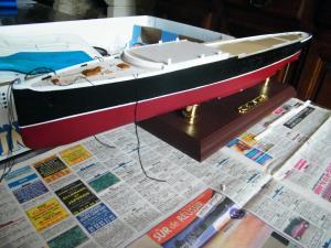 RMS Lusitania (Deluxe Model) - 1:350 - Gunze Sangyo Mini_538413DSCF0841