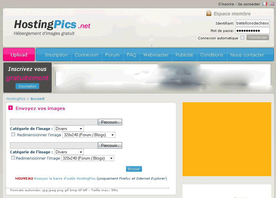 Comment mettre des photos en ligne: hostingpics 3502701
