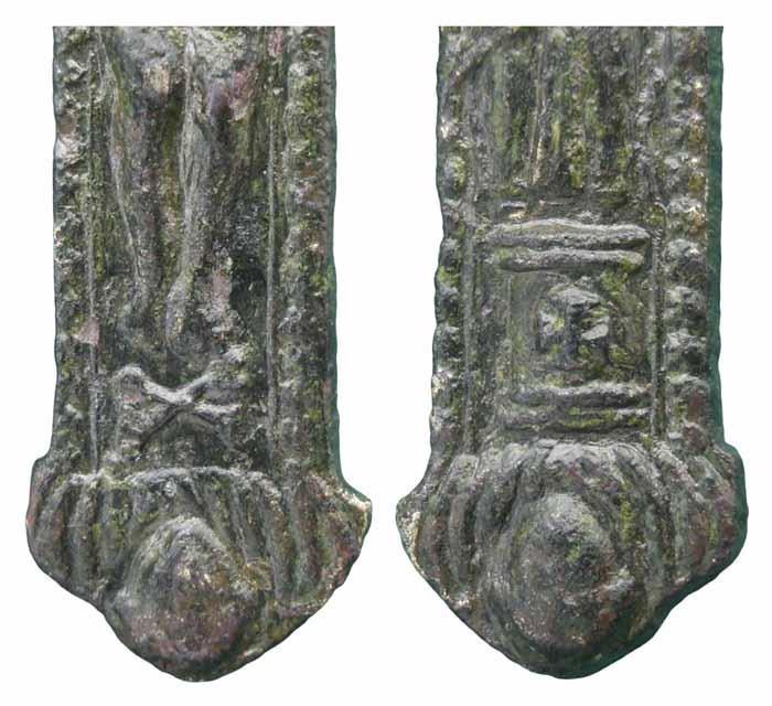 Cristo crucificado / Virgen del Pilar - CC(052) Cc052d