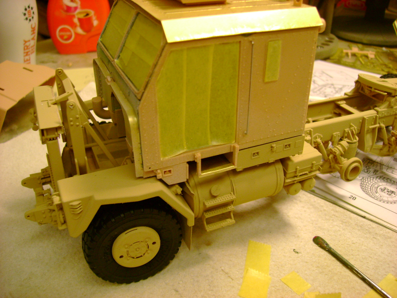 M1070 Truck Tractor & M1000 Semi-Trailer By T-bird!!!!! 1/35 Hobby Boss.Up du01/02.... - Page 4 110yp