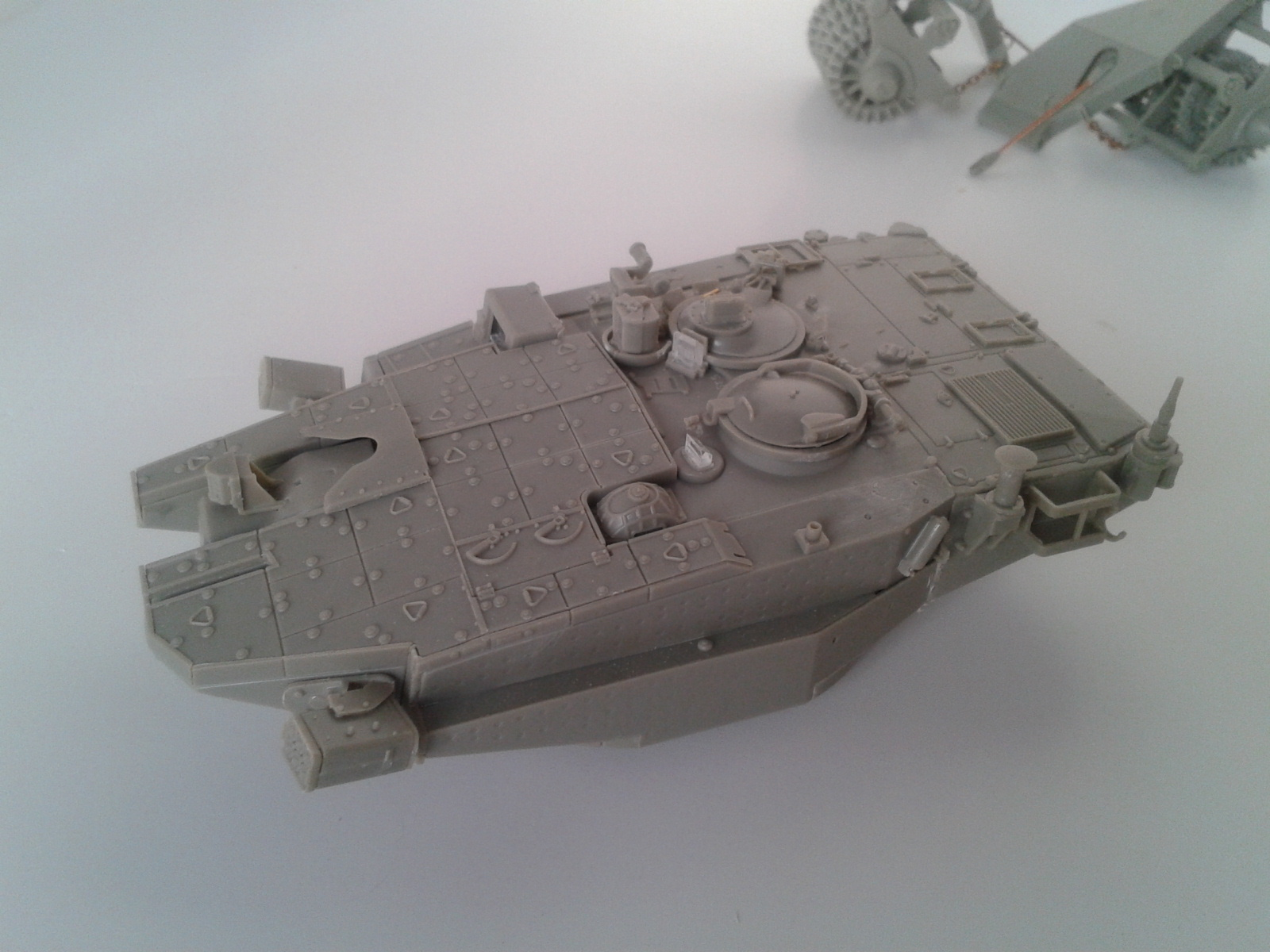 Merkava Mk.3 BAZ w/Nochri Dallet Mine Roller System Meng 1/35....Terminé !!!!! Dayd