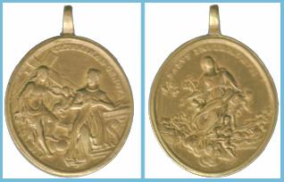 Beata Catalina de Génova / Asunción de la Virgen   (R.M. SXVIII-O146B) Medagliak