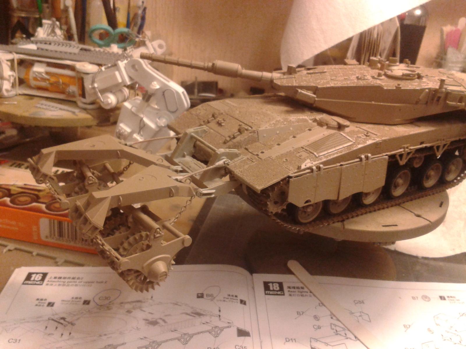 Merkava Mk.3 BAZ w/Nochri Dallet Mine Roller System Meng 1/35....Terminé !!!!! C4g9