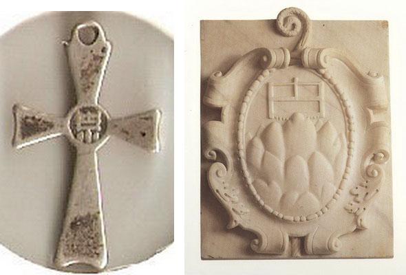 Crucifijo de plata brazos trapezoidales Montserrat ff S-XX Crucifijoplata2