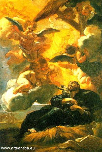 S. Romualdo / Muerte de S. Francisco Javier - Hamerani fechada (R.M. S.XVII-O191) Giovannibattistagaullib
