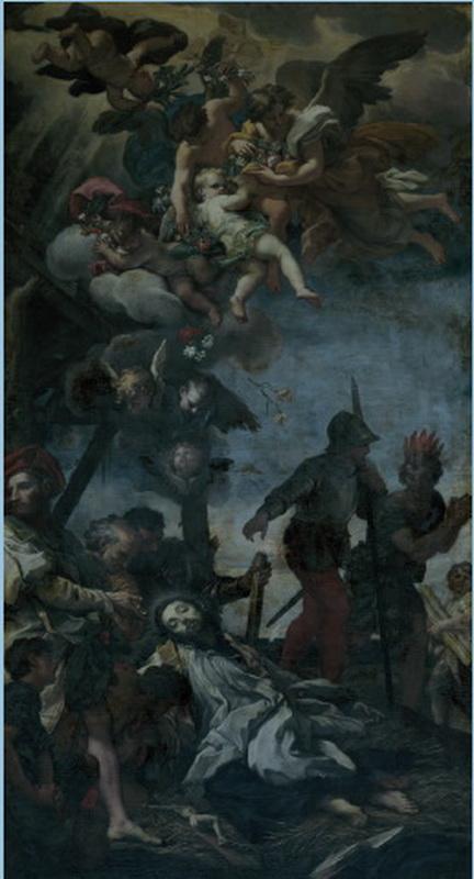 S. Romualdo / Muerte de S. Francisco Javier - Hamerani fechada (R.M. S.XVII-O191) Carlomarattages
