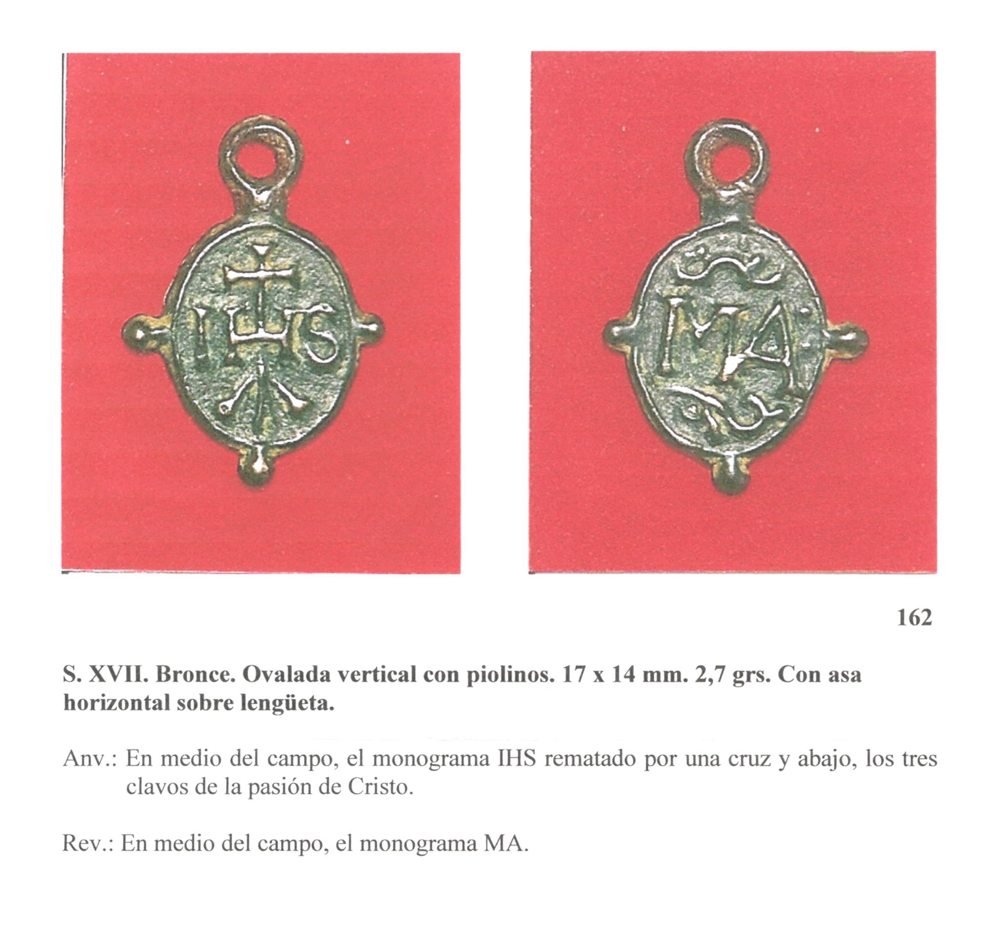 Monograma IHS / Monograma MA.  S.XVI-XVII (FSV núm. 162) (R.M. Nomina Sacra 19) Fsvnm162
