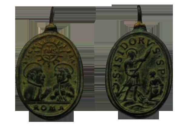 S. Ignacio de Loyola y S. Francisco Javier / S. Isidro  S.XVII Medallas016copy