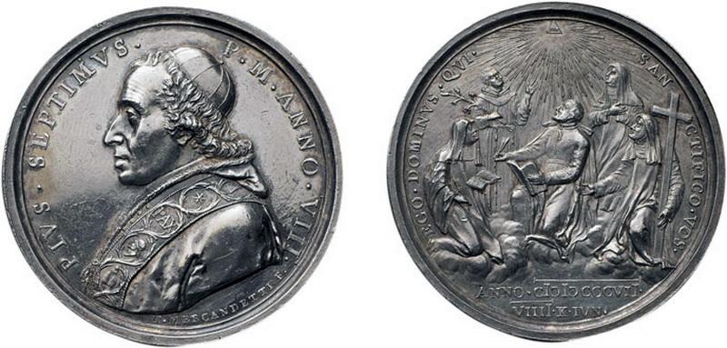 Medallas Papa  Pio VII ( A. VIII), S. XIX 101307