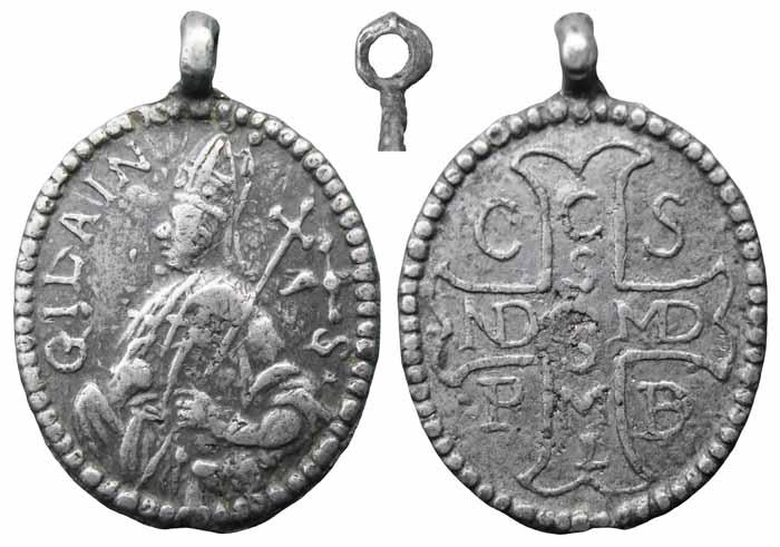 Medalla San Ghislain / Cruz de San Benito - MR(266) (R.M. SXVII-O275) Mr266a