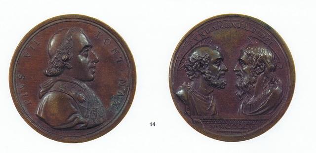 Pio VII / San Pedro y San Pablo   (R.M. SXIX O31) Piovii1804