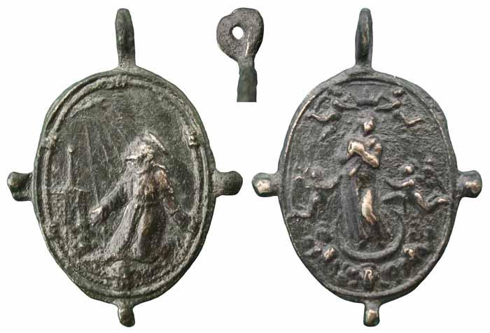 San Francisco de Asís / Asunción de la Virgen, S. XVII - MR(294) (R.M. Pe Asuncion 2) Mr294