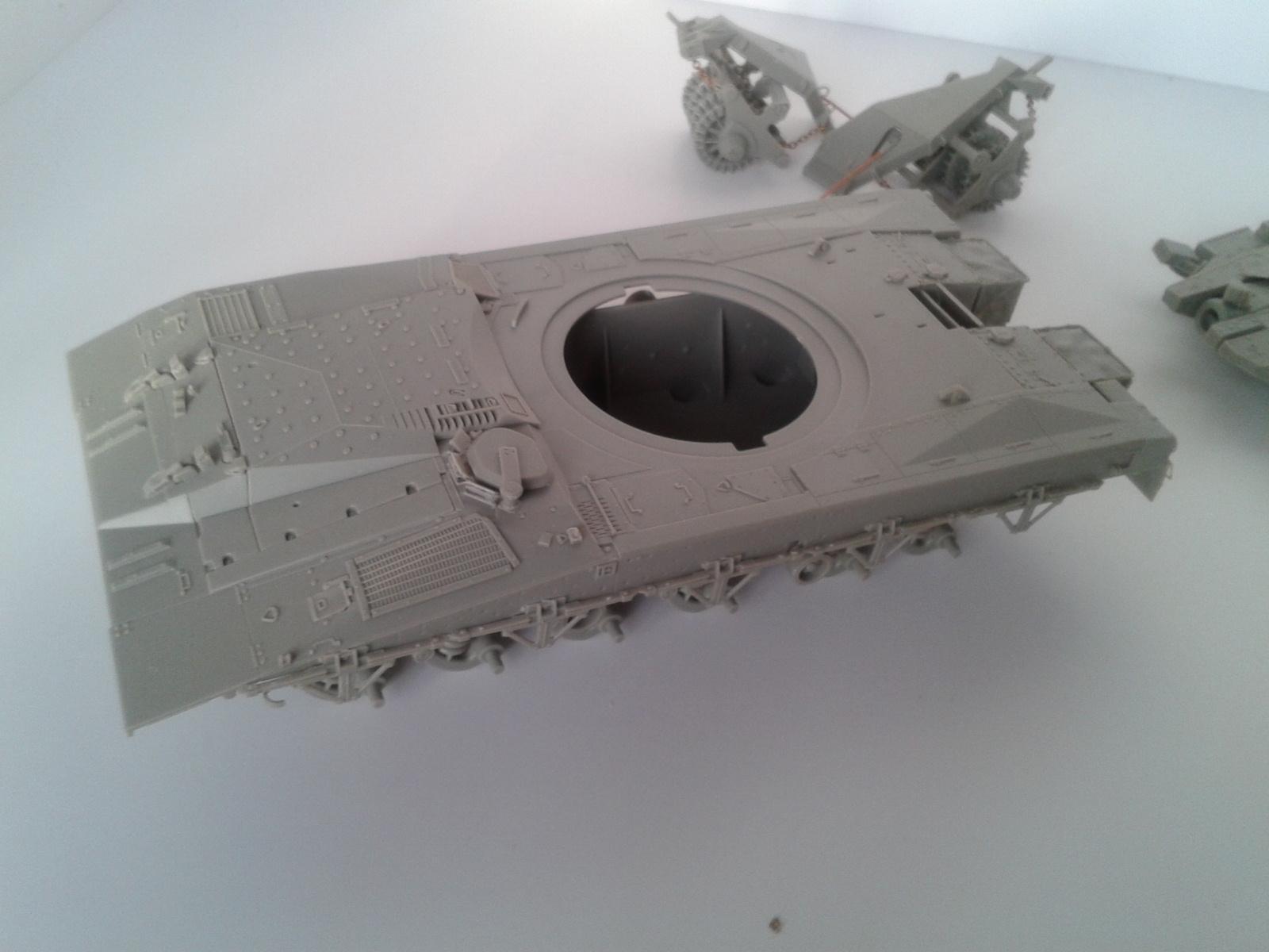 Merkava Mk.3 BAZ w/Nochri Dallet Mine Roller System Meng 1/35....Terminé !!!!! 7jd1