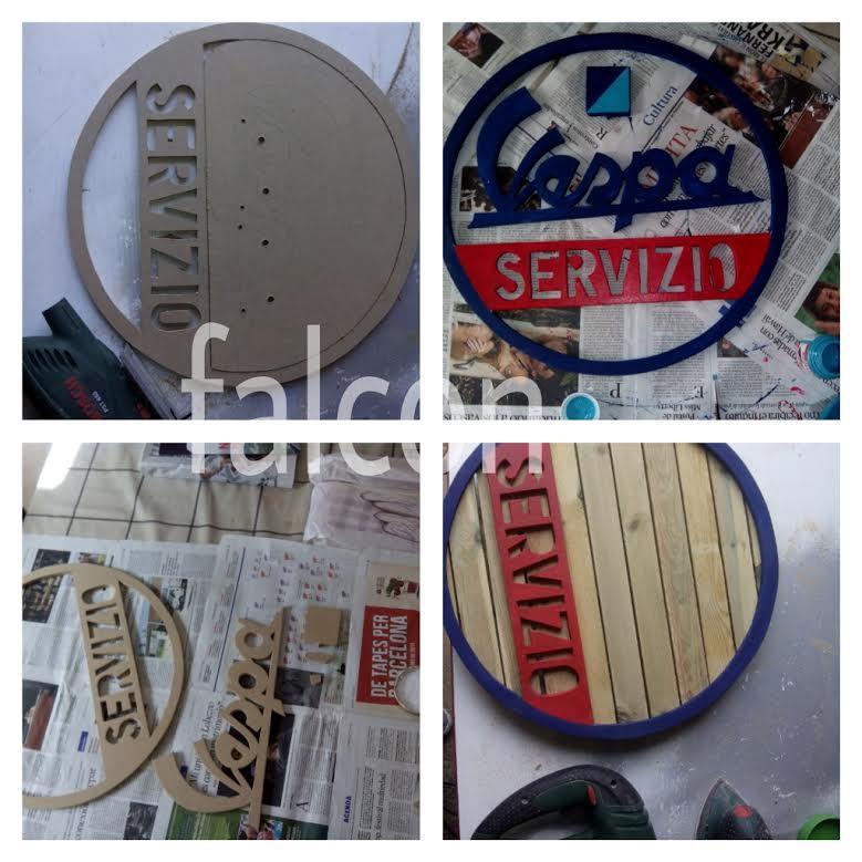 Carteles, Baúles, latas  decoración Vintage Iz577e