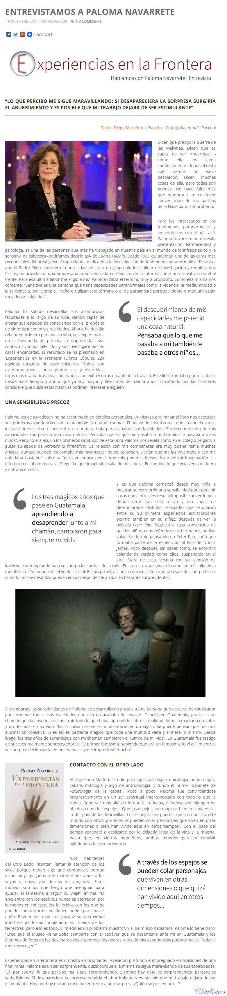 ENTREVISTA A PALOMA NAVARRETE, UNA VIDENTE EXCEPCIONAL G7aPhp
