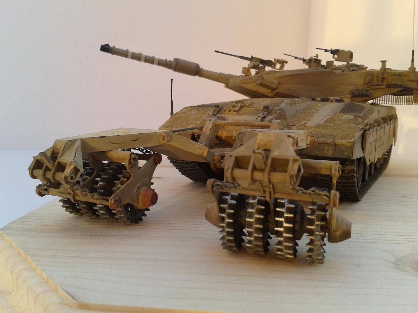 Merkava Mk.3 BAZ w/Nochri Dallet Mine Roller System Meng 1/35....Terminé !!!!! Uqmh