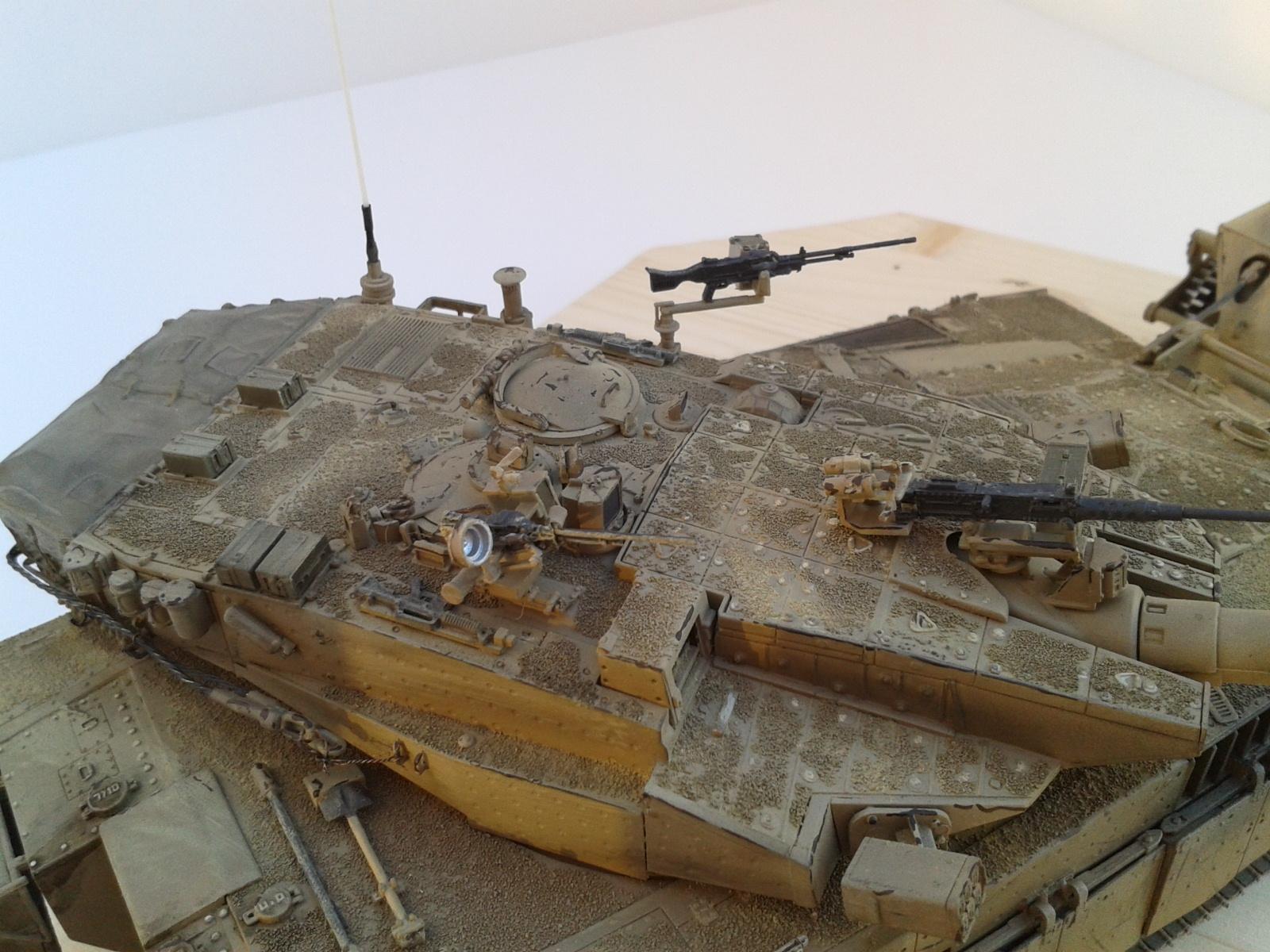 Merkava Mk.3 BAZ w/Nochri Dallet Mine Roller System Meng 1/35....Terminé !!!!! Qhmk