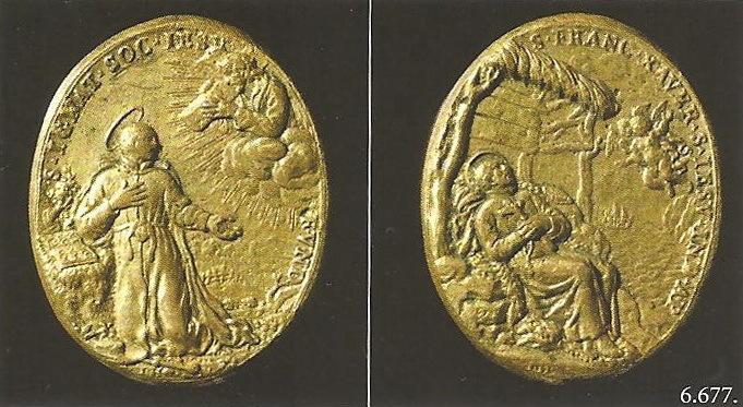 S. Romualdo / Muerte de S. Francisco Javier - Hamerani fechada (R.M. S.XVII-O191) 6677globe