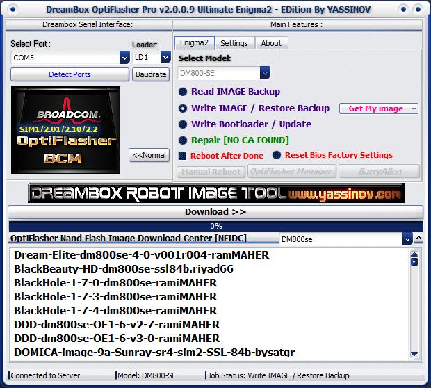 Dreambox OptiFlasher Enigma2 EDition 2bbc