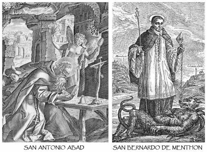 S Antonio Abad / S Bernardo de Aosta-Hamerani- MR(295) (R.M. SXVII-O211) Mr295b